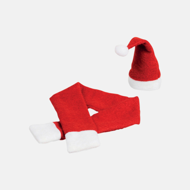 Röd / Vit Kläder för vinflaskor - med reklamtryck