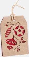 Julmönstrade presentetiketter med reklamtryck