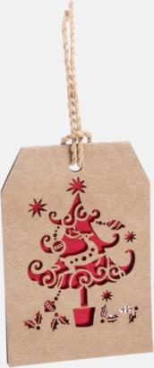 Julgran Julmönstrade presentetiketter med reklamtryck