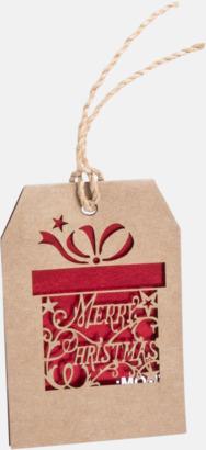 Julklapp Julmönstrade presentetiketter med reklamtryck