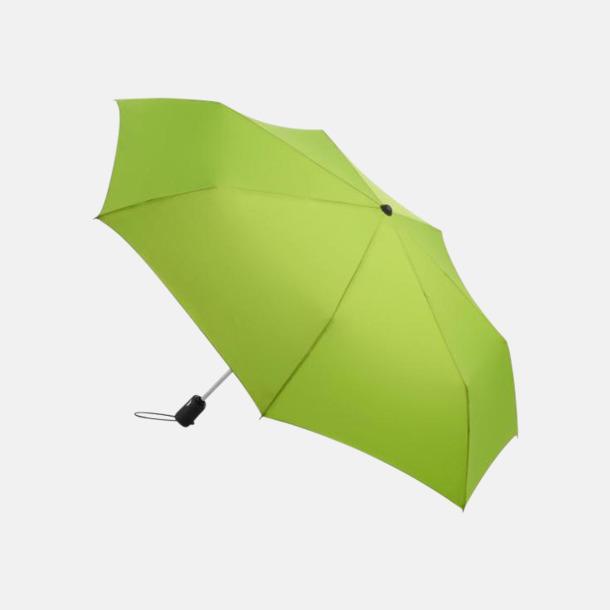 Limegrön Basildon kompakt - små paraplyer med reklamtryck