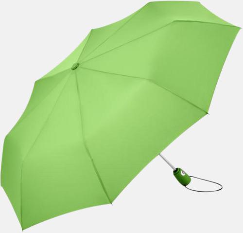Ljus Grön Kompakta paraplyer med eget tryck