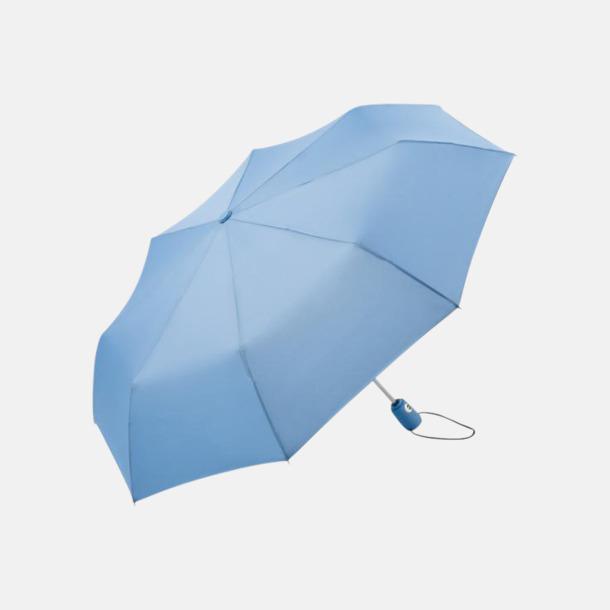 Ljusblå Kompakta paraplyer med eget reklamtryck