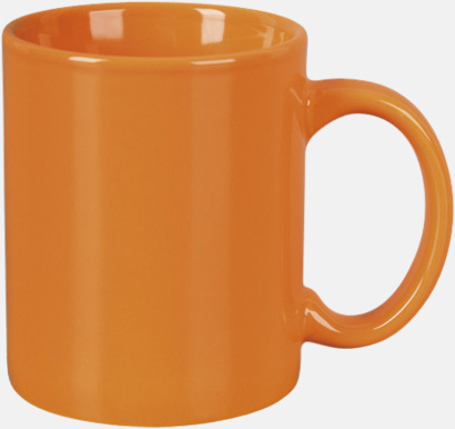Orange Basmugg 300 ml - med tryck