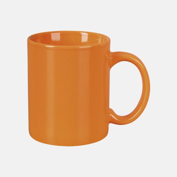 Orange Basmugg 300 ml - med tryck