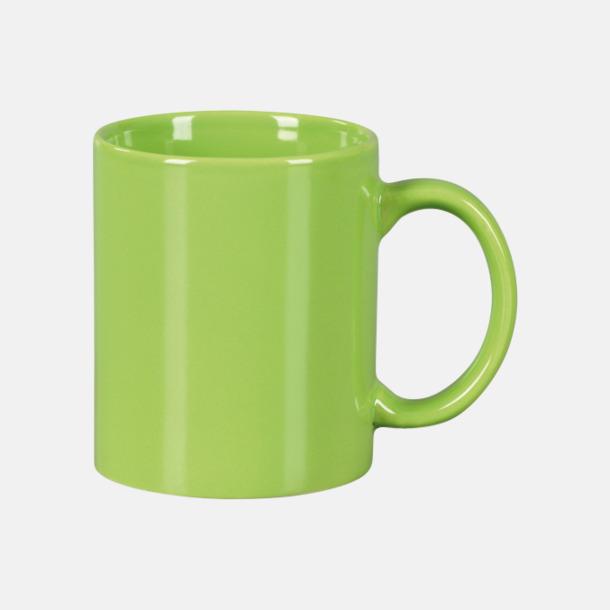 Limegrön Basmugg 300 ml - med tryck