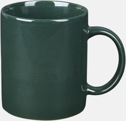 Mörkgrön Basmugg 300 ml - med tryck