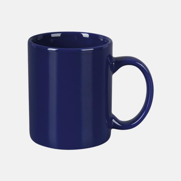 Marinblå Basmugg 300 ml - med tryck