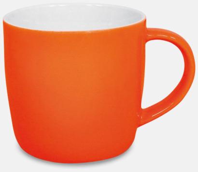 Blank Orange Muggar med eget tryck