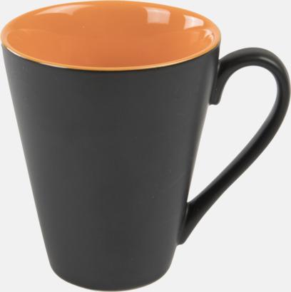 Orange / Svart Kaffemuggar med färgad insida