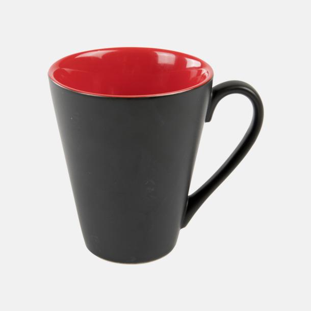 Röd / Svart Kaffemuggar med färgad insida