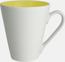 Kaffemuggar med färgad insida