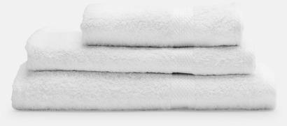 Vit Handdukar i flera storlekar & färger