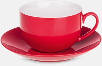 Röd Porslinsmuggar med eget tryck