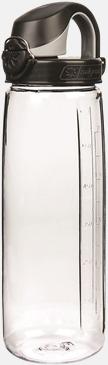Svart / Transparent Enhandsvänlig vattenflaska
