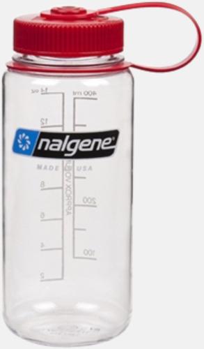 Clear/Röd (0,5 l) Färgglada vattenflaskor med eget tryck