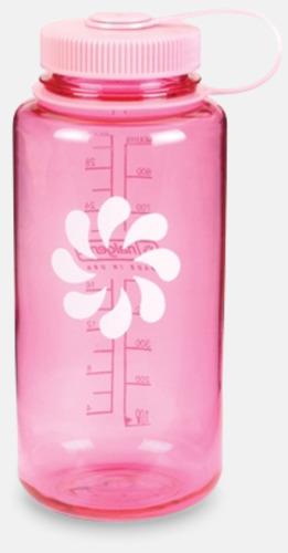 Rosa Färgglada vattenflaskor med eget tryck