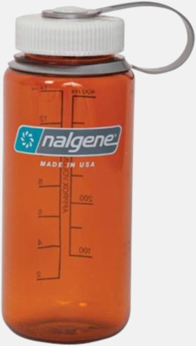 Rustic Orange Färgglada vattenflaskor med eget tryck