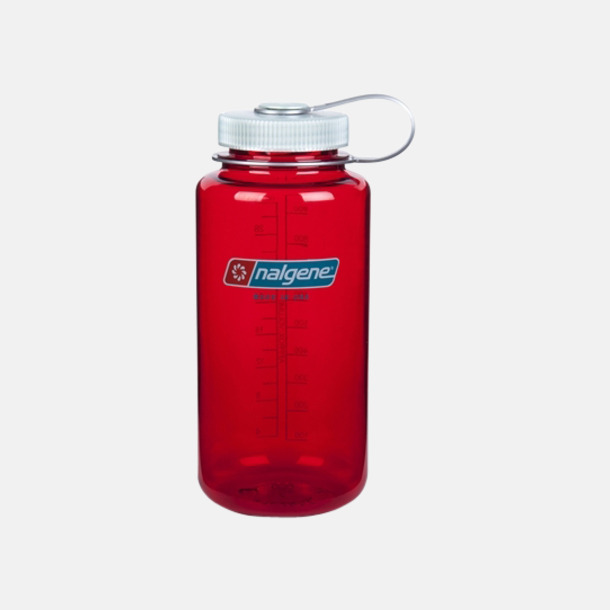Oudoor Red/Silver Färgglada vattenflaskor med eget tryck