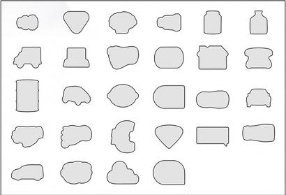 Standardformer (stora) Självhäftande block i många former