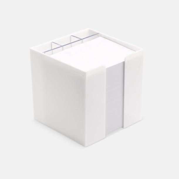 Vit Plastbox med pennfack och papperskub i mitten