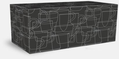 Presentask 4-pack Cylinderformade stengodsmuggar med eget tryck