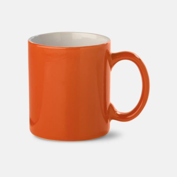 Orange / Vit Stengodsmuggar med reklamtryck