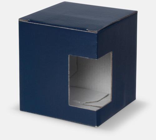 1-pack (blå) Stengodsmuggar med reklamtryck