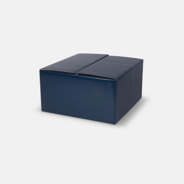 4-pack (blå) Stengodsmuggar med reklamtryck