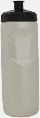 Vit pärlemor Vattenflaska i BPA-fri bio plast med egen reklamlogga