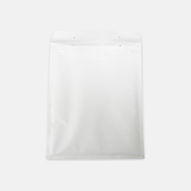 Vita skyddande bubbelkuvert med eget reklamtryck