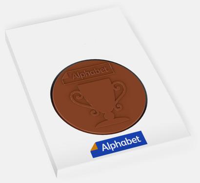 Runda chokladmedaljer med eget motiv