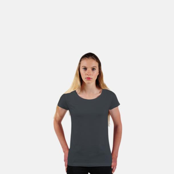 Charcoal Grey Eko dam t-shirts i Fairtrade-bomull med reklamtryck