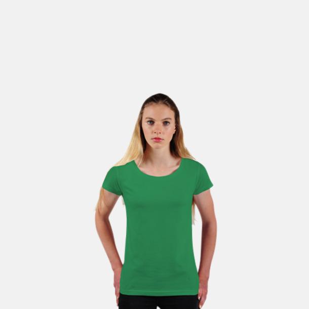 Kelly Green Eko dam t-shirts i Fairtrade-bomull med reklamtryck
