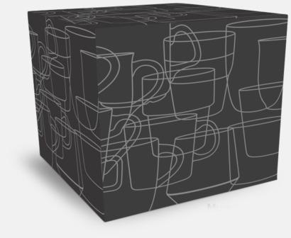 Kartong 1-pack Koppar med reklamtryck