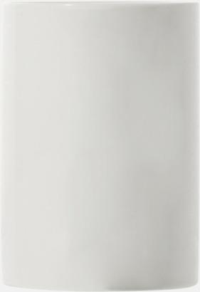 Cylinderformade porslinsmuggar med reklamtryck