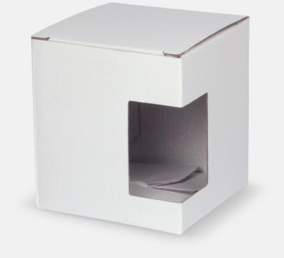 1-pack (vit) Cylinderformade porslinsmuggar med reklamtryck