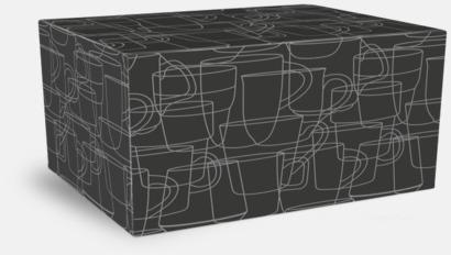 Presentask 2-pack Kaffemuggar i stengodsmuggar med reklamtryck