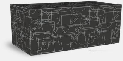 Presentask 4-pack Kaffemuggar i stengodsmuggar med reklamtryck
