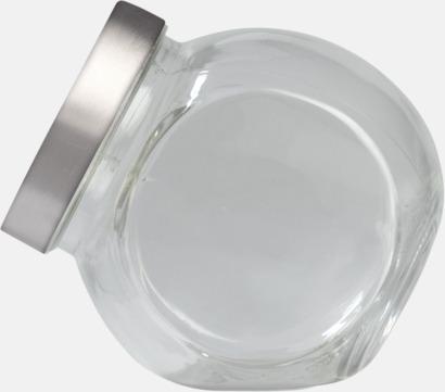 Transparent Glasburkar med reklamtryck