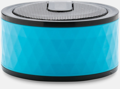 Blå Puckformade högtalare med reklamtryck
