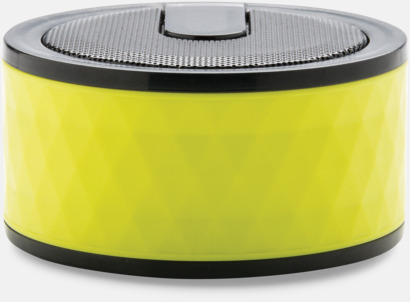 Limegrön Puckformade högtalare med reklamtryck
