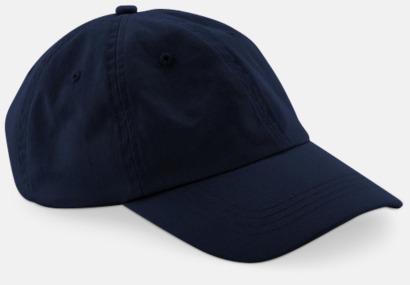 Marinblå Lågprofil keps med böjd skärm med egen logga
