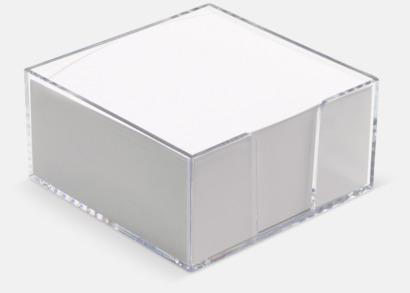 Transparent Plastkub med papper - med reklamtryck