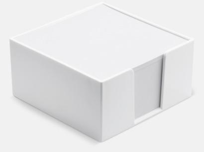 Vit Plastkub med papper - med reklamtryck