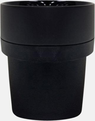 Svart Megara kaffemugg med reklamtryck