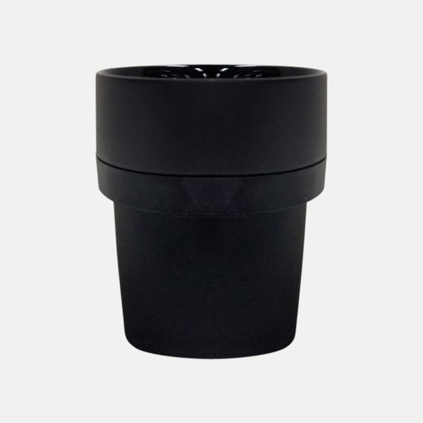 Svart (silikon) Megara kaffemugg med reklamtryck