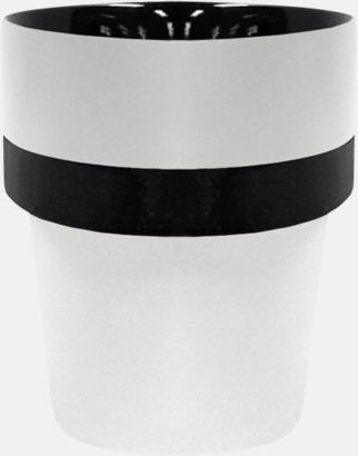 Vit / Svart Megara kaffemugg med reklamtryck