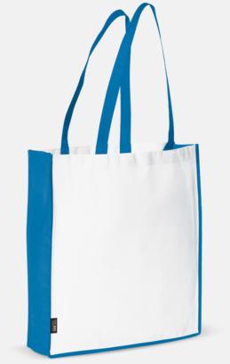 Vit / Blå Miljövänlig bärkasse med eget tryck