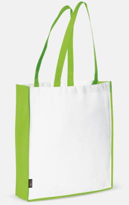 Vit/Ljusgrön Miljövänlig bärkasse med eget tryck